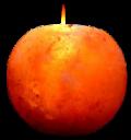 Свеќник од хималајска сол, Јаболко, ≈1 кг.